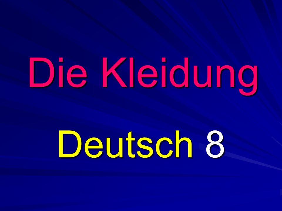 Die Kleidung Deutsch 8