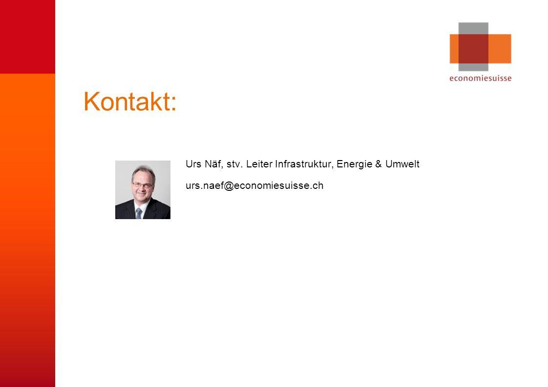 © economiesuisse Kontakt: Urs Näf, stv.