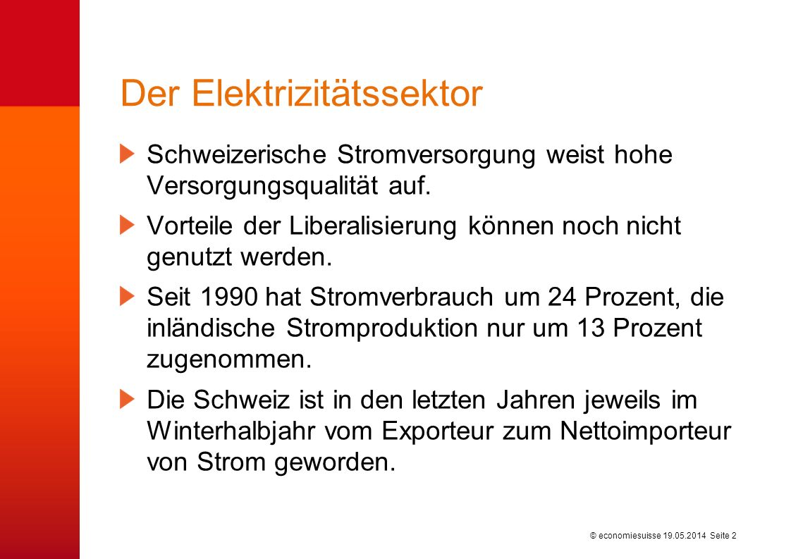 © economiesuisse Kontakt: Dr.