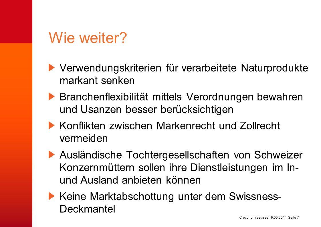 © economiesuisse Facts und Hintergründe dossierpolitik Nr.