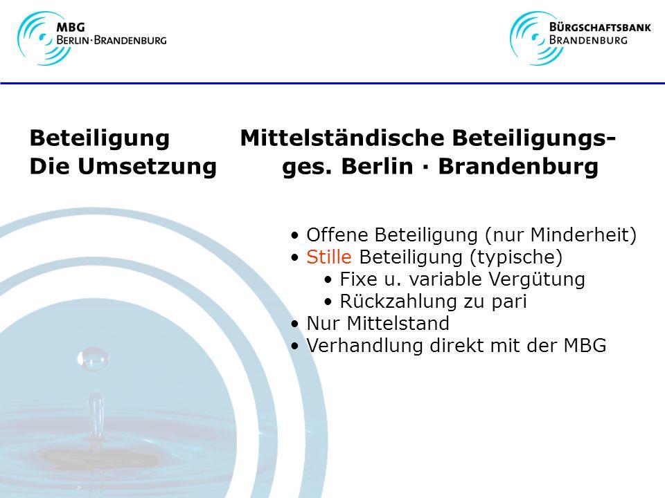 Beteiligung Mittelständische Beteiligungs- Die Umsetzung ges.