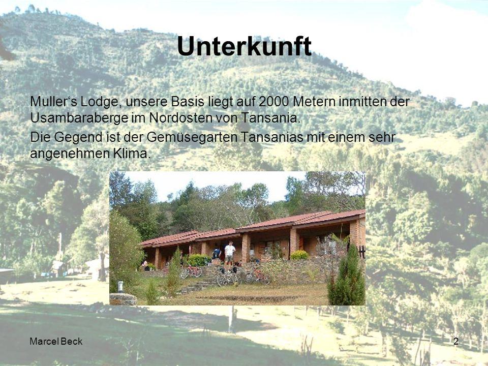 Marcel Beck2 Unterkunft Mullers Lodge, unsere Basis liegt auf 2000 Metern inmitten der Usambaraberge im Nordosten von Tansania.