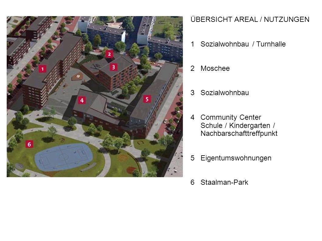 134 Wohnungen in unterschiedlichen Größen 74 Wohnungen sind als Sozialwohnungen vorgesehen Im Gebäude an der Ottho Heldringstraat (Gebäude Nr.1) sind in 5 Geschossen Wohnungen gebaut.