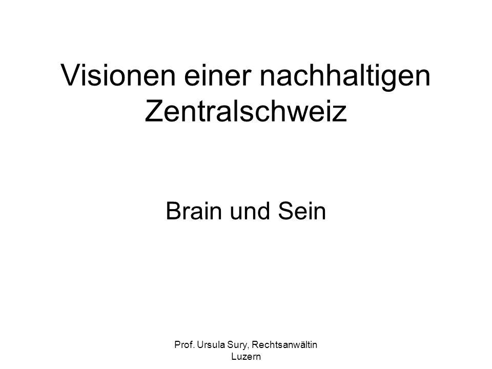 Prof. Ursula Sury, Rechtsanwältin Luzern Visionen einer nachhaltigen Zentralschweiz Brain und Sein