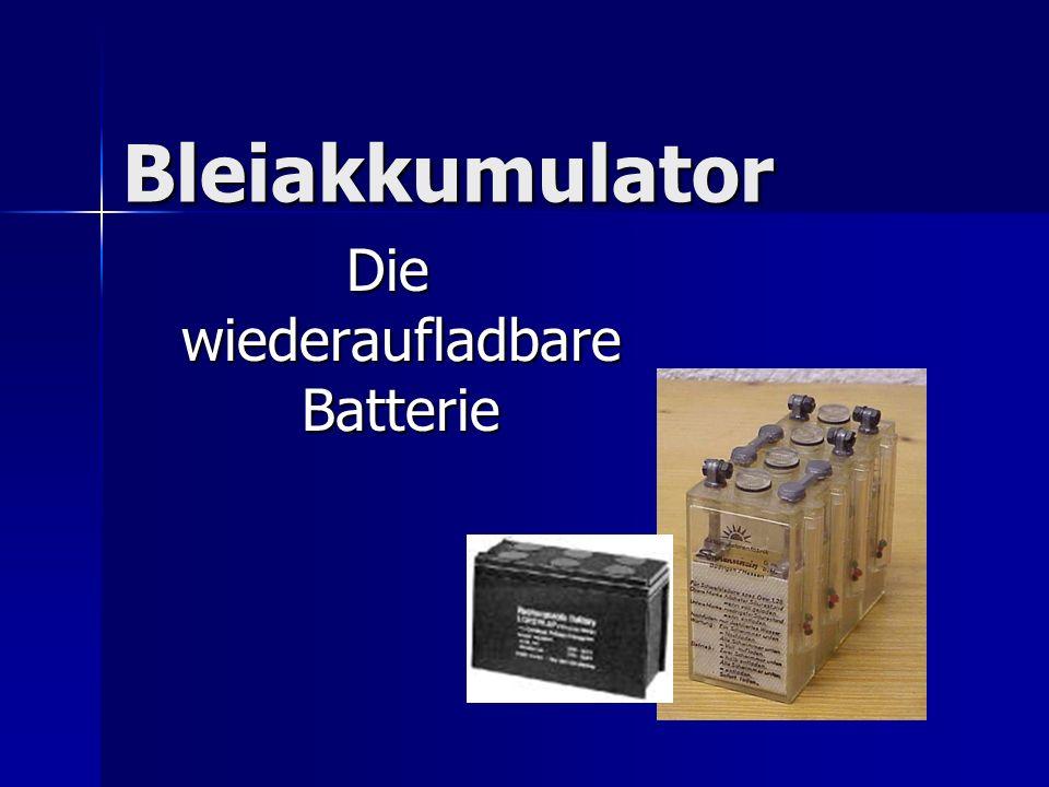 Bleiakkumulator Die wiederaufladbare Batterie Die wiederaufladbare Batterie