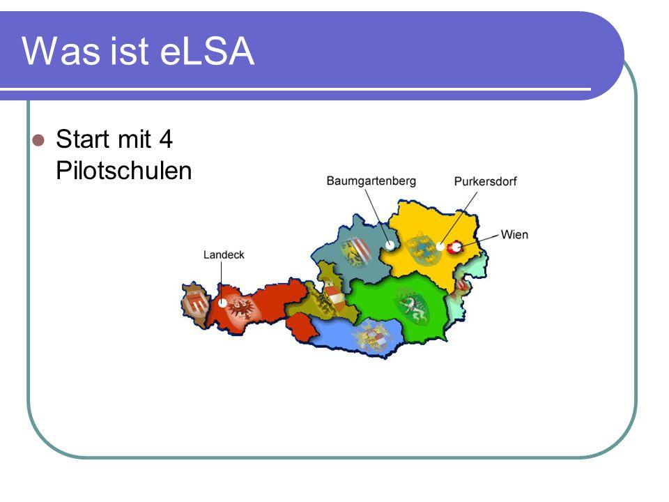 Was ist eLSA Start mit 4 Pilotschulen