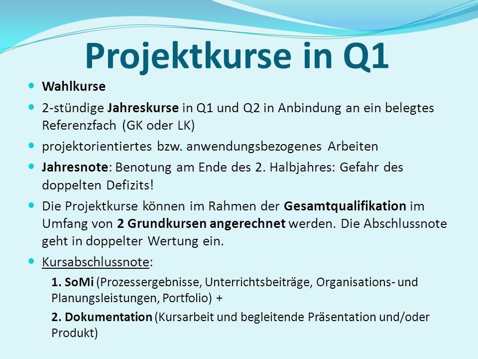 Durchgängig in Q1 und Q2 belegtes Fach Zusatzkurse in Jahrgangsstufe Q2 Geschichte zwei Kurse Sozialwissenschaften (3-stündig) Sozialwissenschaften zw