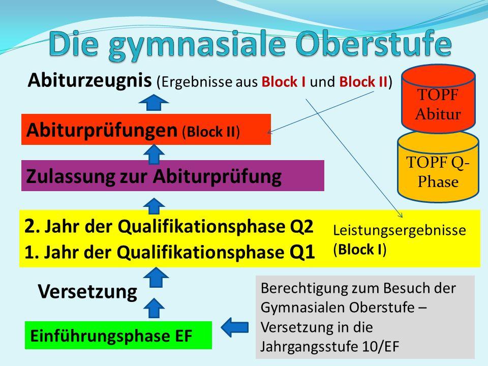 Ausgestaltung des Unterrichts Einführungsphase Qualifikationsphase 10 Grundkurse 11.