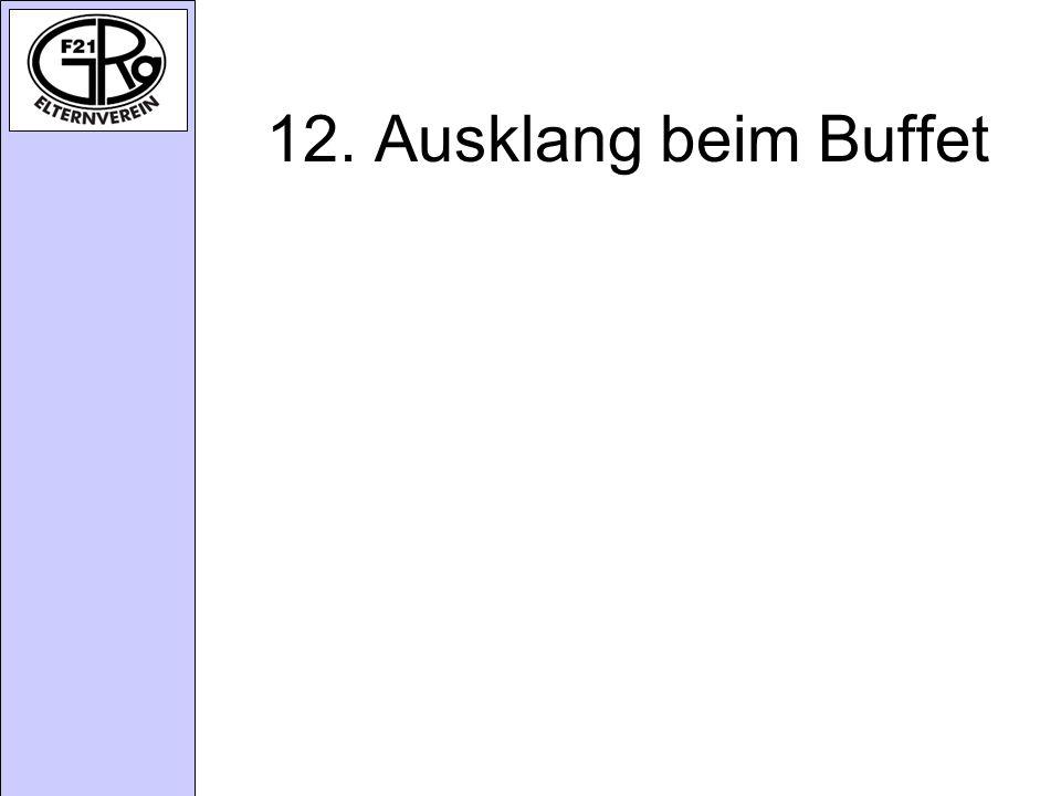 12. Ausklang beim Buffet