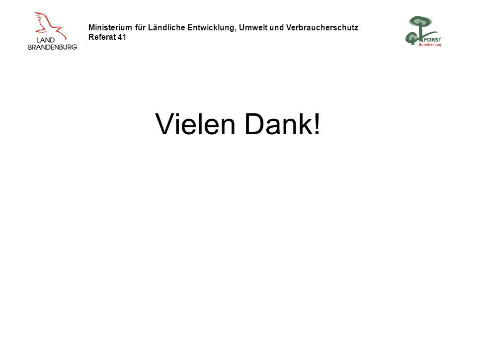 Ministerium für Ländliche Entwicklung, Umwelt und Verbraucherschutz Referat 41 Vielen Dank!