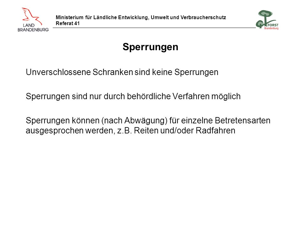 Ministerium für Ländliche Entwicklung, Umwelt und Verbraucherschutz Referat 41 Wanderreittour Hoher Fläming Tourenbeschreibung Immer dem Specht nach.