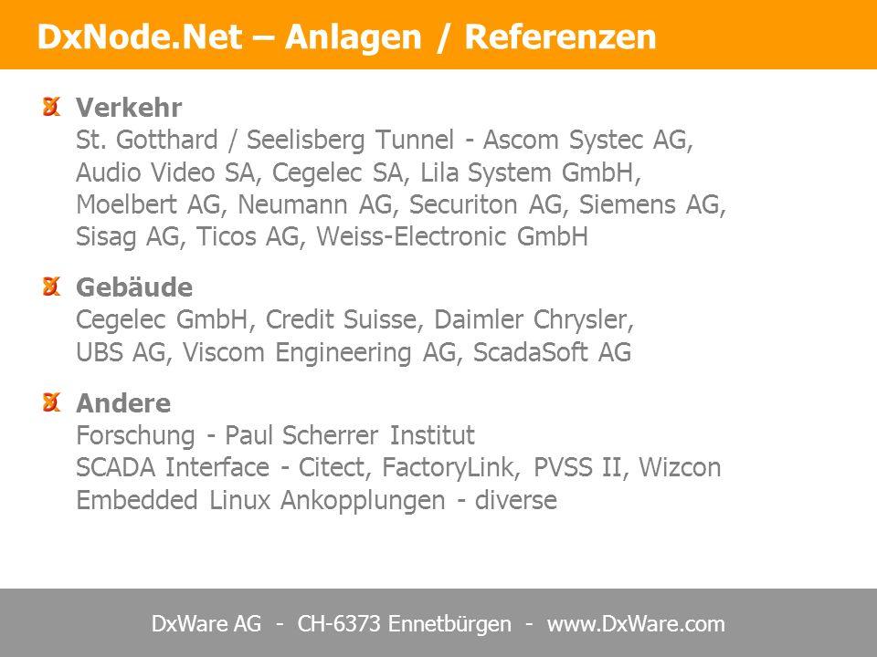 DxWare AG - CH-6373 Ennetbürgen - www.DxWare.com Verkehr St.