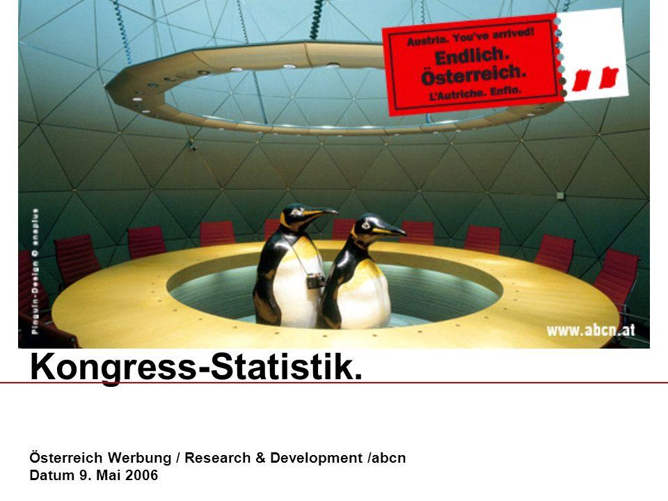 Kongress-Statistik. Österreich Werbung / Research & Development /abcn Datum 9. Mai 2006