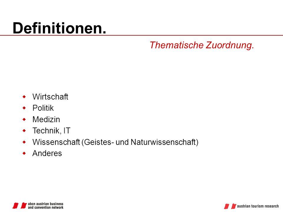 Definitionen.Thematische Zuordnung.