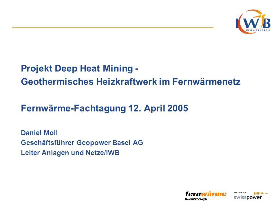 Folie 2 Inhaltsverzeichnis Rahmenbedingungen für die Realisierung Projektaufbau in Phasen Projektgesellschaft Geopower Basel AG Finanzierung des Projektes Risikominderung Anlagenkonzept Wirtschaftlichkeit Fernwärmenetz