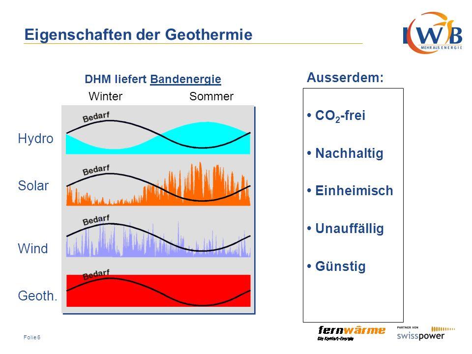 Folie 17 Erschliessung und Gewinnung von Geothermie zur Erzeugung und Verteilung von Wärme und Strom Geopower Basel AG Beteiligte Partner: