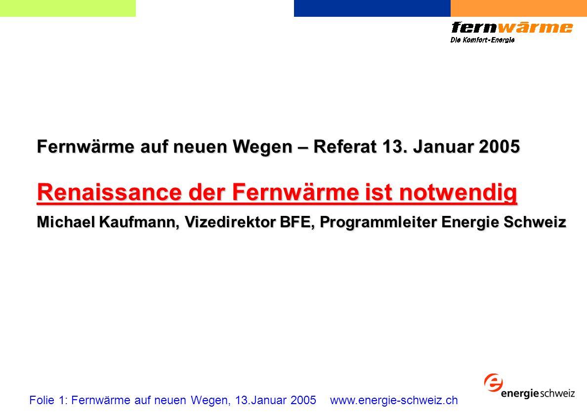 Fernwärme auf neuen Wegen – Referat 13.