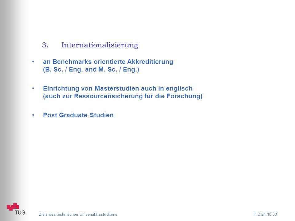 3.Internationalisierung an Benchmarks orientierte Akkreditierung (B.