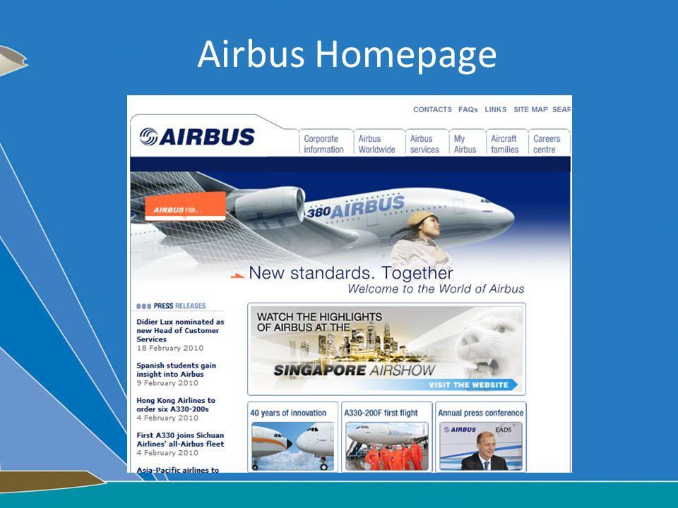 Airbus Homepage