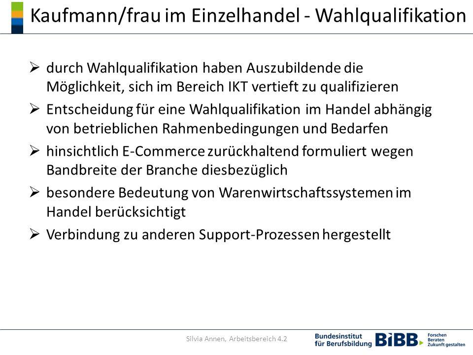 Kaufmann/frau im Einzelhandel - Wahlqualifikation durch Wahlqualifikation haben Auszubildende die Möglichkeit, sich im Bereich IKT vertieft zu qualifi