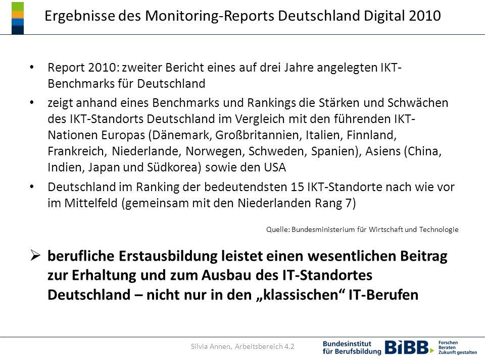 Ergebnisse des Monitoring-Reports Deutschland Digital 2010 Report 2010: zweiter Bericht eines auf drei Jahre angelegten IKT- Benchmarks für Deutschlan