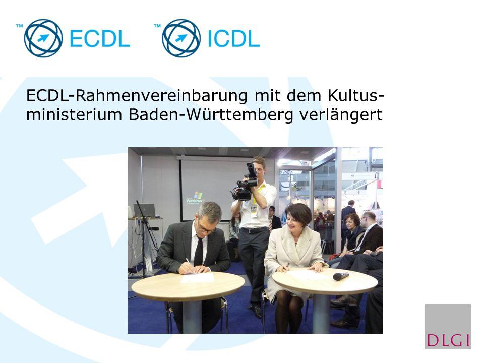 ECDL-Rahmenvereinbarung mit dem Kultus- ministerium Baden-Württemberg verlängert