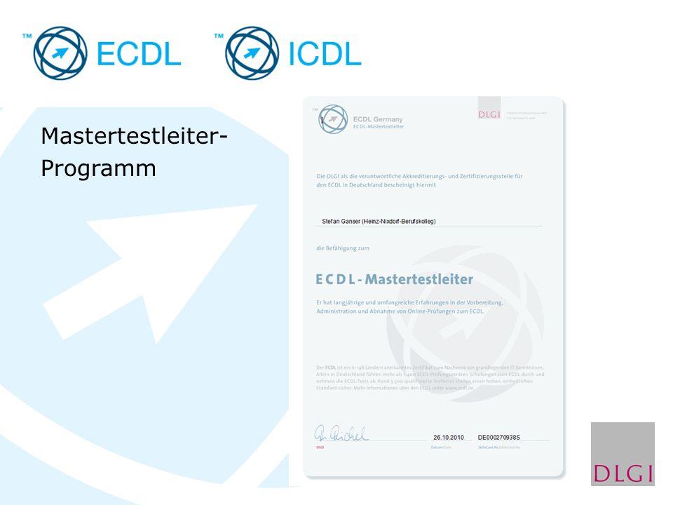 Mastertestleiter- Programm