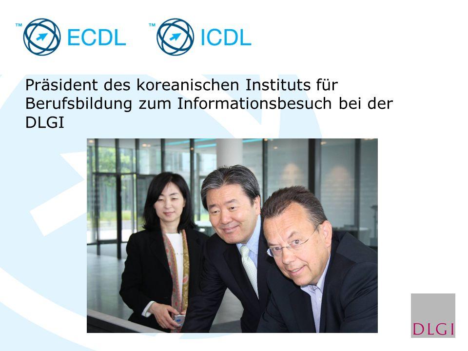 Präsident des koreanischen Instituts für Berufsbildung zum Informationsbesuch bei der DLGI