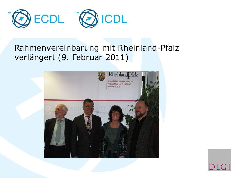 Rahmenvereinbarung mit Rheinland-Pfalz verlängert (9. Februar 2011)