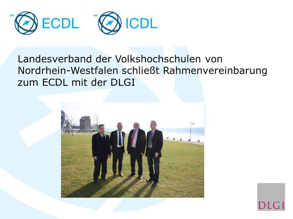 Landesverband der Volkshochschulen von Nordrhein-Westfalen schließt Rahmenvereinbarung zum ECDL mit der DLGI