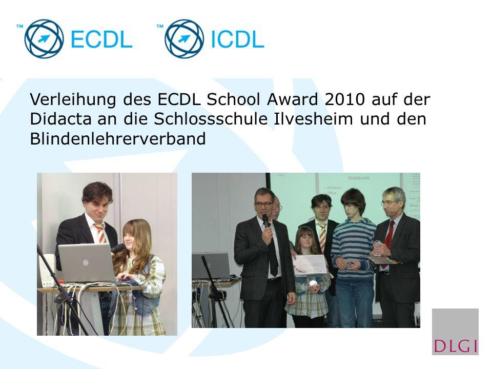 Verleihung des ECDL School Award 2010 auf der Didacta an die Schlossschule Ilvesheim und den Blindenlehrerverband