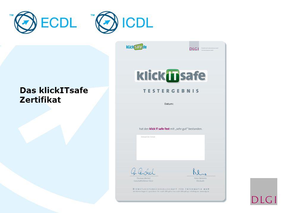 Das klickITsafe Zertifikat