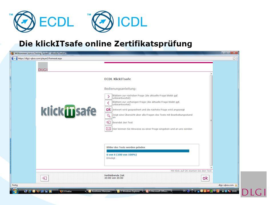 Die klickITsafe online Zertifikatsprüfung