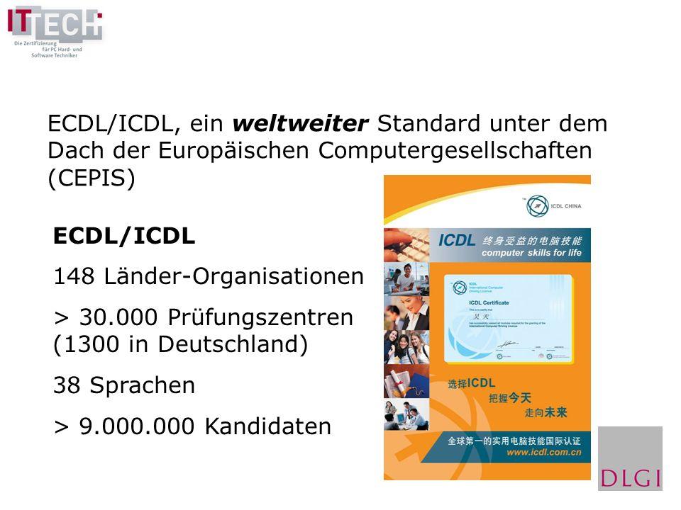 Grundlagen der Informationstechnologie Betriebssystem Textverarbeitung Tabellenkalkulation Datenbanken Präsentation Internet und E-Mail Die 7 ECDL-Module: