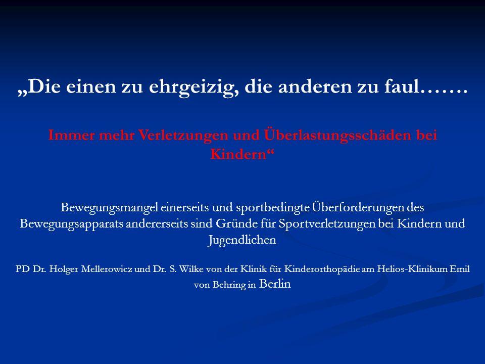 Da Sportschäden oft auch aufgrund von Überlastung entstehen, überschneidet sich der Begriff Sportschaden mit der Bezeichnung Überlastungsschaden Geiger 1997