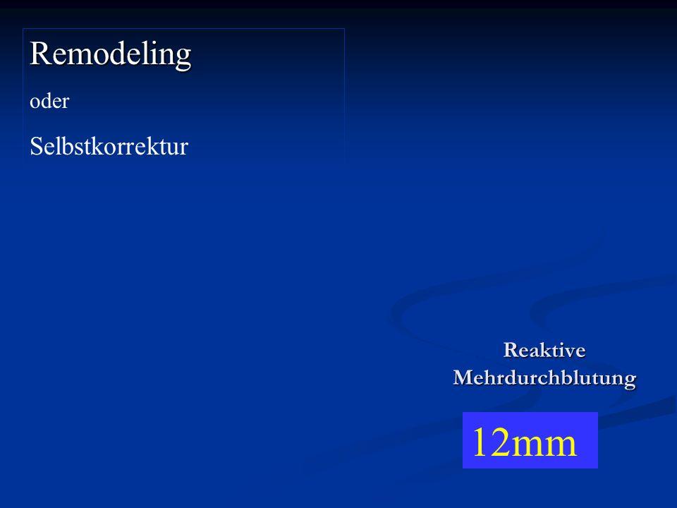 Remodeling oder Selbstkorrektur 12mm Reaktive Mehrdurchblutung