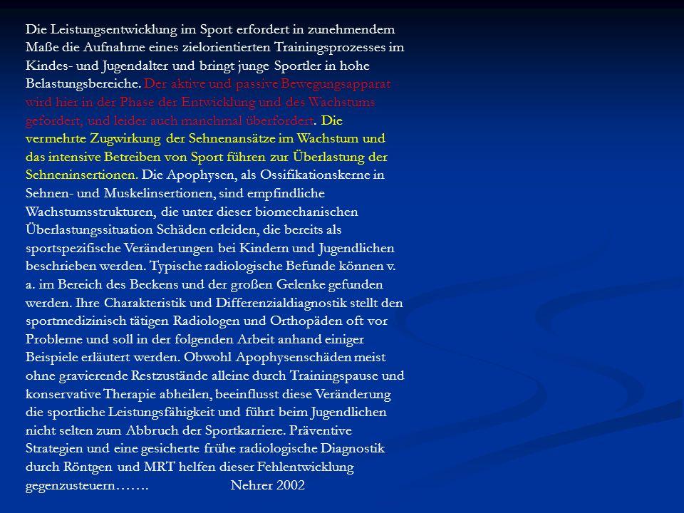 Die Leistungsentwicklung im Sport erfordert in zunehmendem Maße die Aufnahme eines zielorientierten Trainingsprozesses im Kindes- und Jugendalter und