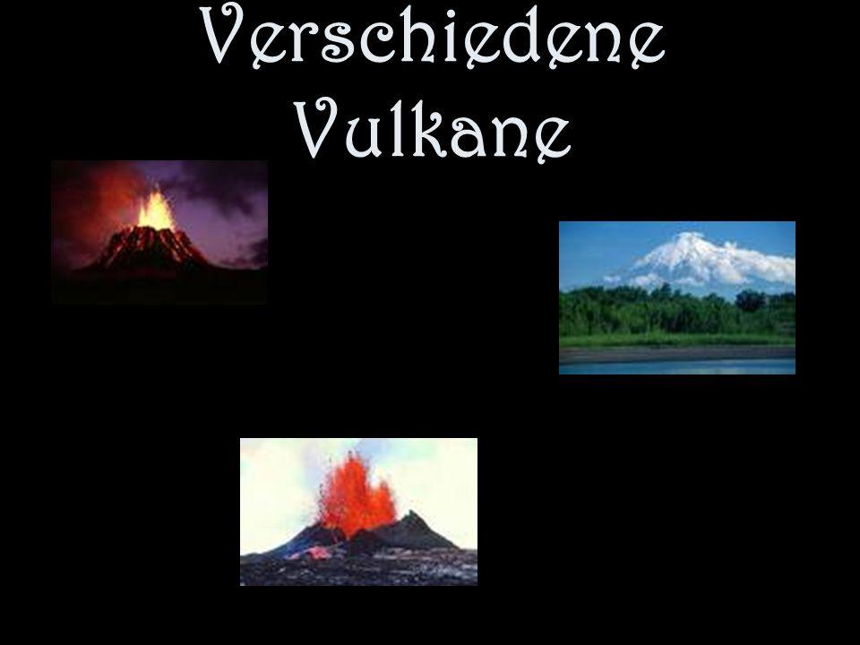 Verschiedene Vulkane