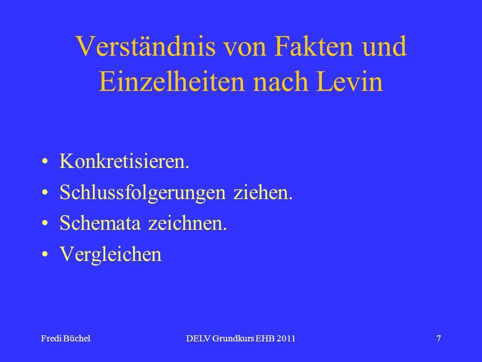 Fredi BüchelDELV Grundkurs EHB 20117 Verständnis von Fakten und Einzelheiten nach Levin Konkretisieren.