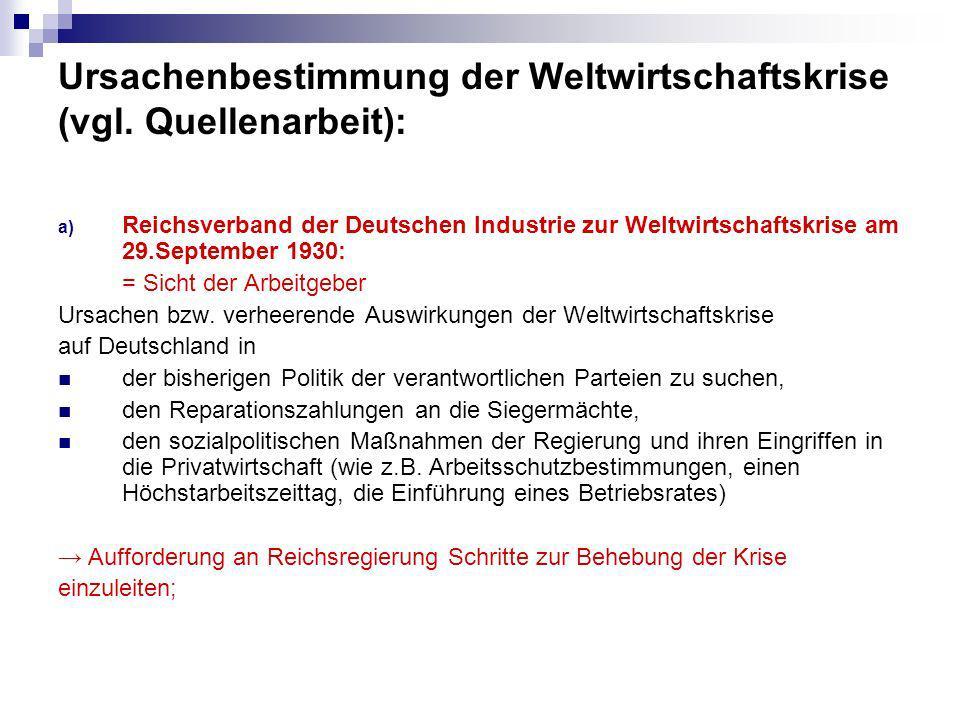 b) Außenminister Curtius über die Auswirkungen der Weltwirtschafts- krise am 12.
