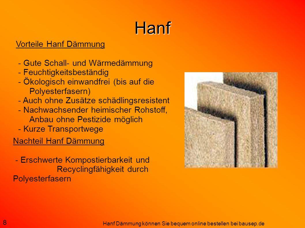 Hanf Nachteil Hanf Dämmung - Erschwerte Kompostierbarkeit und Recyclingfähigkeit durch Polyesterfasern 8 Vorteile Hanf Dämmung - Gute Schall- und Wärm