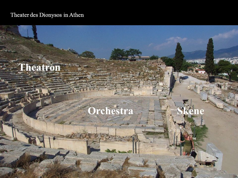 Theater des Dionysos in Athen Orchestra Theatron Skene