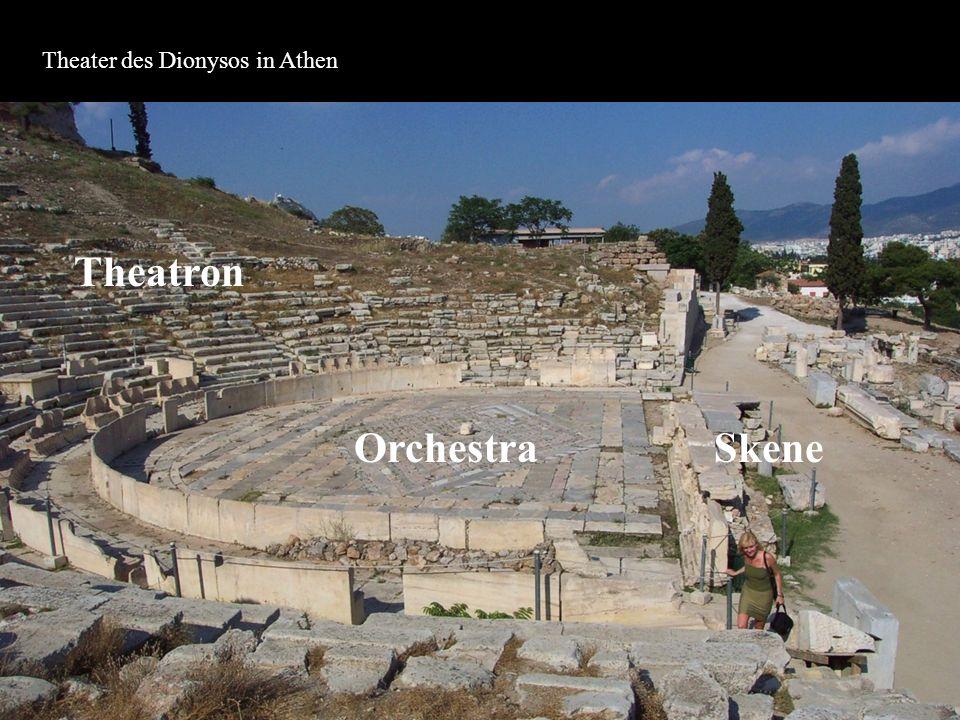 Gespielt wurde zu Ehren des Dionysos an den sog.Dionysien, also dem Hauptfest des Gottes.