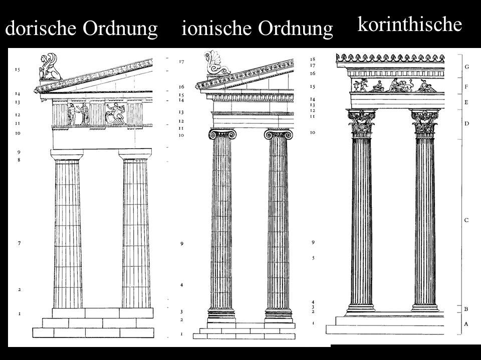 dorische Ordnungionische Ordnung korinthische