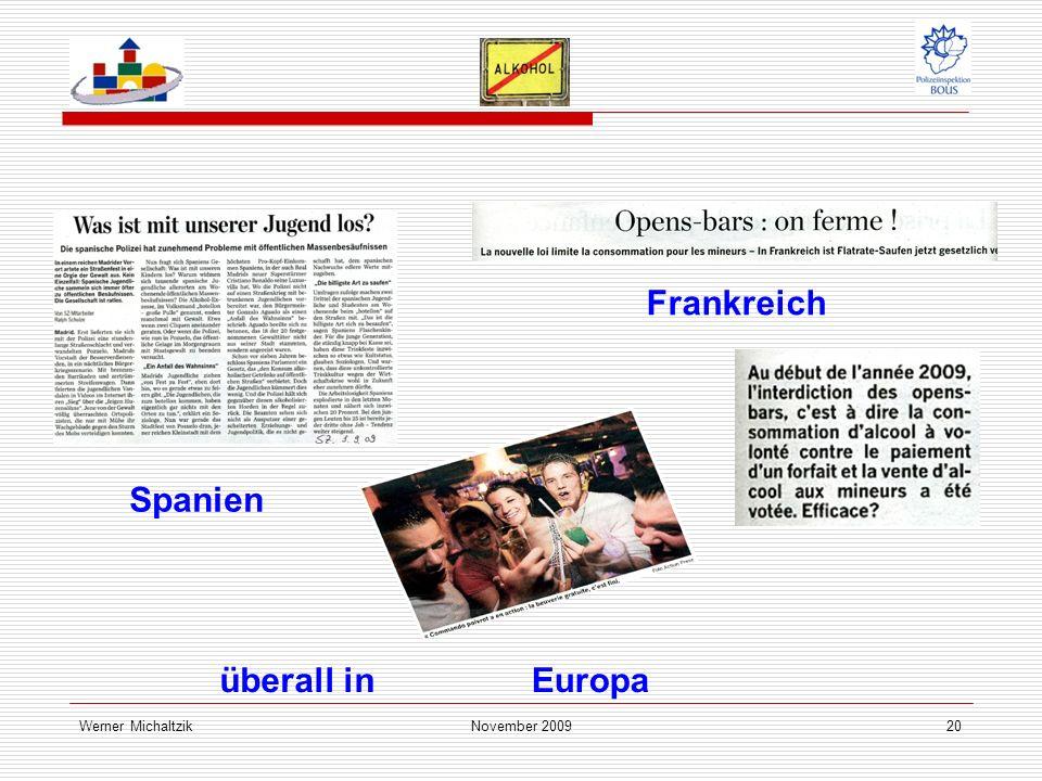 Werner MichaltzikNovember 200920 Spanien Frankreich überall inEuropa