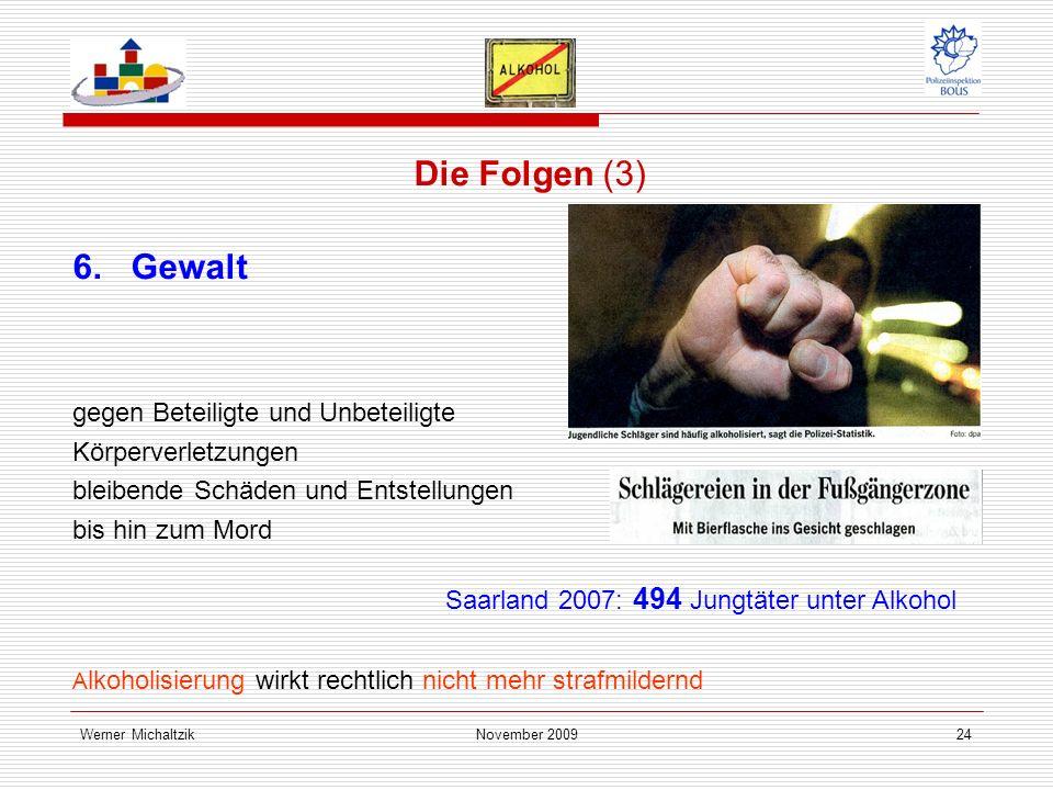 Werner MichaltzikNovember 200924 Die Folgen (3) 6.