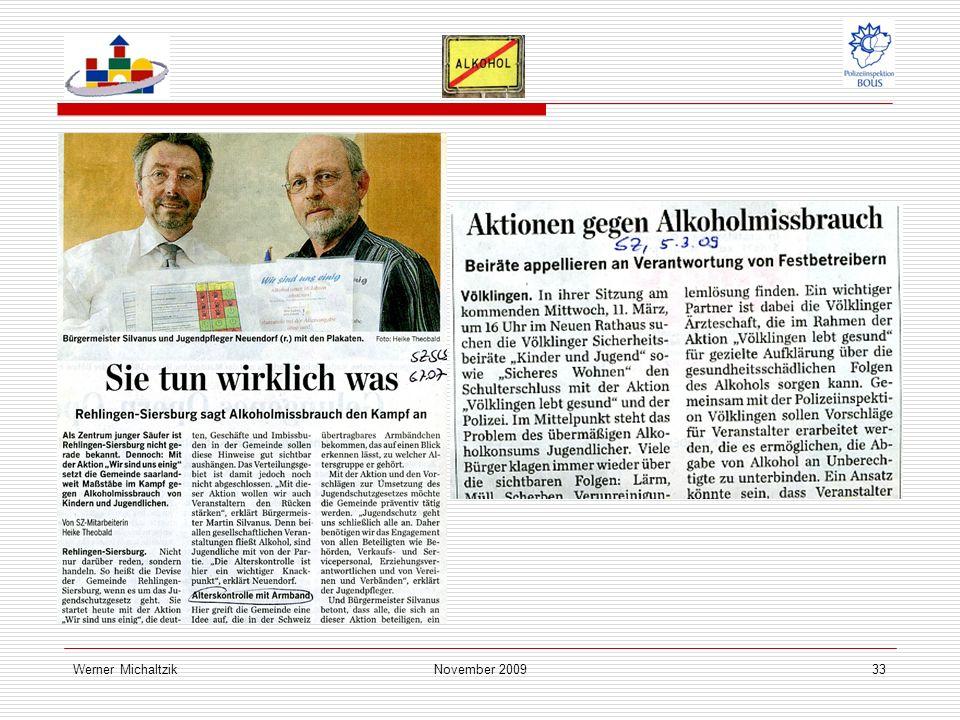 Werner MichaltzikNovember 200933