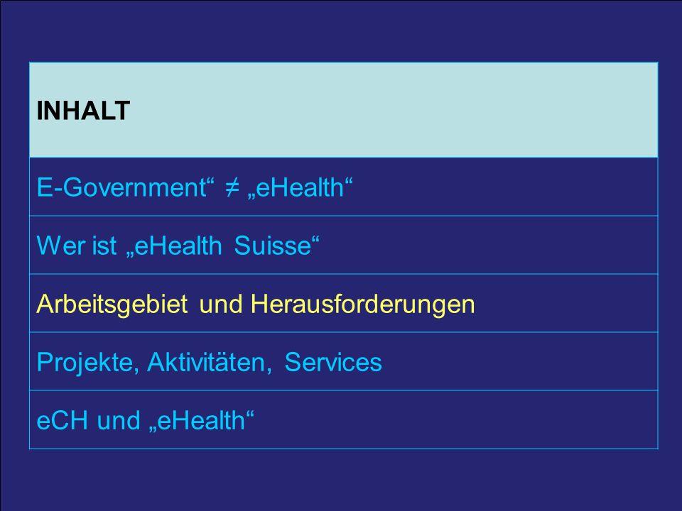 10 25. März 2011 / A. Schmid 10 INHALT E-Government eHealth Wer ist eHealth Suisse Arbeitsgebiet und Herausforderungen Projekte, Aktivitäten, Services