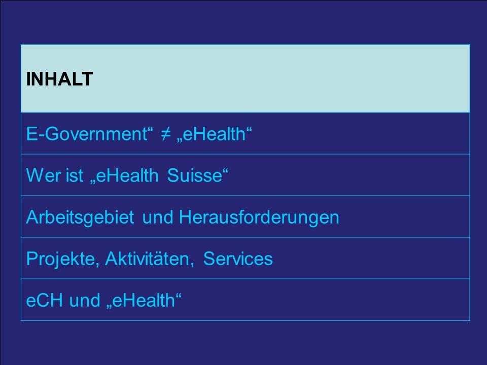 2 25. März 2011 / A. Schmid 2 INHALT E-Government eHealth Wer ist eHealth Suisse Arbeitsgebiet und Herausforderungen Projekte, Aktivitäten, Services e