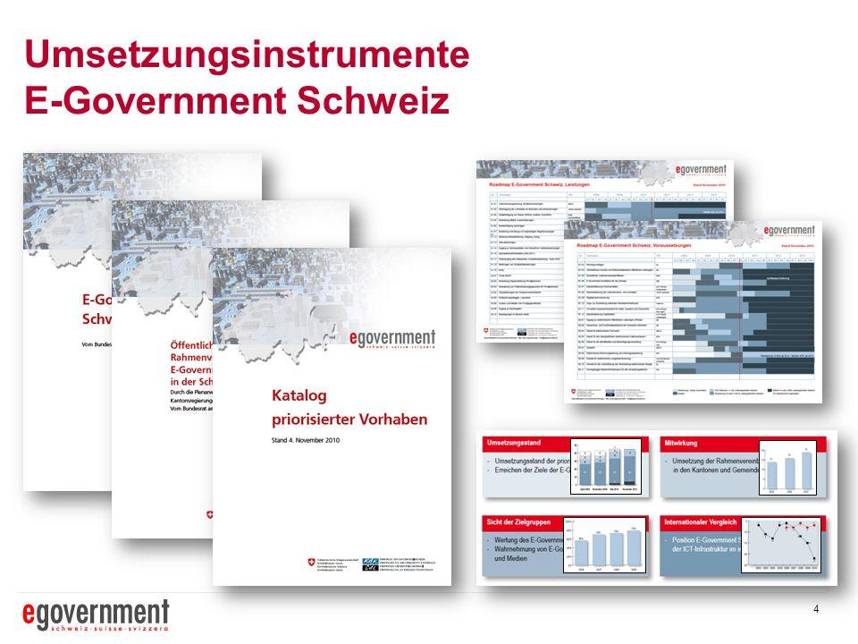 4 Umsetzungsinstrumente E-Government Schweiz